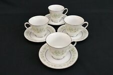 noritake savannah tea cup saucers 2031  *  set of 4