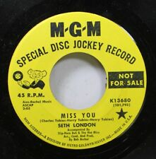Rock Promo Nm! 45 Seth London - Miss You / Winter Snow Summer Rain On Mgm