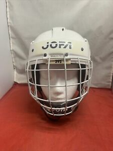 Vintage Jofa White Hockey Helmet 395JR 6 1/2 - 7 1/4 w / 386 Cage Made In Sweden