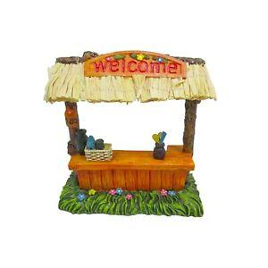 Mini Pool Tiki Bar with Straw Roof DA 30050625 Miniature Fairy Garden