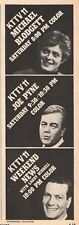 1968 KTTV  TV AD~MICHAEL BLODGETT~LARRY BURRELL~JOE PYNE~LOS ANGELES TALK SHOW'S