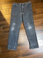 Vintage Mens Made In USA Lee Black Jeans Denim Size 34x32 Actual Size (32x30)