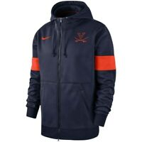 New Nike Men's Virginia Cavaliers 2019 Sideline Full Zip Hoodie Large MSRP $90