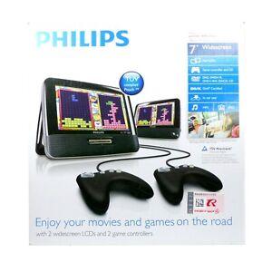 Auto DVD-Player Philips PD7032 mit 2 Bildschirmen 2 Controller 12V