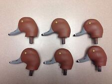 6 New Herters Model 63 Drake Redhead Duck Decoy Heads