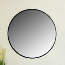 Extra large round black metal framed wall mirror vintage industrial chic display