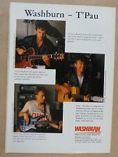 vintage magazine advert 1989 WASHBURN - T`PAU