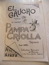Partition El Gaucho de Maurizi Pampa Criolla Fred Ariel Music Sheet