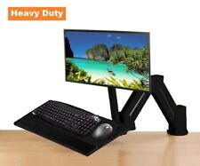 EZM LCD Monitor/Keyboard Stand Desktop/Wall Mount Black (002-0003B)