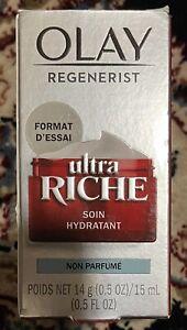 2 Olay Regenerist Ultra Rich Non-Perfume Soin Hydratant Moisturizer 0.5 fl Oz.