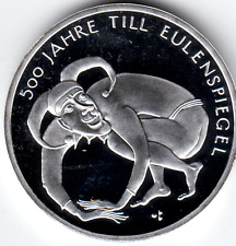 "10 Euro Gedenkmünze 500 Jahre Till Eulenspiegel 2011 ""PP"" 625/- Silber"