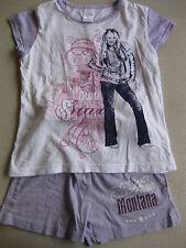 Pyjama Pyjama Hannah Montana taille 128 Lilas/Blanc 2 pièces magnifique