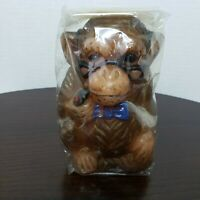 Vintage Animal Delights Hand Painted Monkey Pipe Candle British Hong Kong Sealed