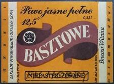 Poland Brewery Witnica Basztowe Beer Label Bieretikett Etiqueta Cerveza wi1.1