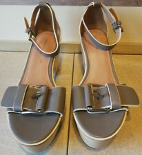 Country Road Leather Platform Clogs Size 39