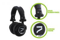 7even Headphone black, Kopfhörer für Dj, Hifi, Sport, dreh-klappbar, Kabel steck