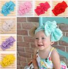 Baby Toddler Girl Lace Big Bow Elastic Wide Headband Photo Prop Hair Accessory