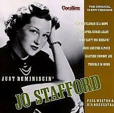 Just Reminiscin' by Jo Stafford (CD, Mar-2001, Dutton Vocalion)