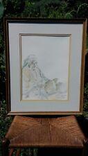"""J. Royal (Jim) Telford Original Watercolor Painting """"Sketch for Indian Lady"""""""