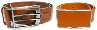 Men's TRISTAN / TERRA NOSTRA brown genuine leather belt size 30 32 34 36 38 40