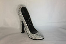 High Heel Shoe Telephone with Rhinestone Bling in Silver N 213
