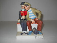 "The 12 Norman Rockwell Danbury Mint 7"" Porcelain Figurines The Interloper 1980"