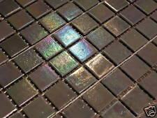 Glasmosaik Fliesen Mosaik PERLMUTT EFFEKT GRAU TOP Bad Dusche Pool Sauna top
