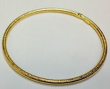 "14Kt Yellow Gold Stackable Slip-on Hammered Textured Bangle/Bracelet 8"" 2.8grams"