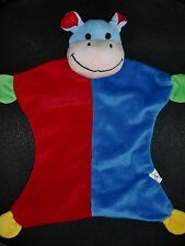 doudou plat hippopotame bleu rouge BEST PRICE LUPILU LIDL (2 dispo)