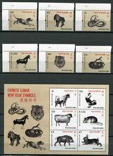 Papua Neuguinea 2011 China Mondkalender Tiere Zodiac 1634-39 Block 128 MNH