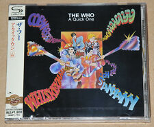 THE WHO - A QUICK ONE, 2011 JAPAN SHM-CD + 10 B/T + OBI, SEALED! FREE SGHIPPING!