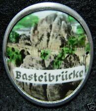 Bastei Brucke Round used hiking medallion stocknagel G0697