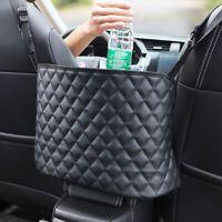 Advanced Car Net Pocket Handbag Holder Between Seat Storage Organizer PU Bag