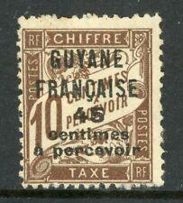 Guyane 1925 French Guiana 45¢/10¢ Due Scott #J9 Mint H542