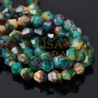 New 30pcs 8mm Bicone Faceted Glass Loose Spacer Colorized Beads Blue&Green