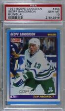 1991-92 Score Canadian Bilingual Geoff Sanderson #354 PSA 10 Rookie