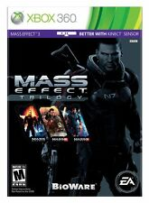 Mass Effect Trilogy 1 2 3 [Xbox 360, Bonus Content, Action RPG] NEW