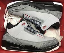 Jordan Retro III 3 Stealth Grey Black White Cement 136064-003 Sz 10
