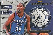 2012-13 Panini Totally Certified Basketball Factory Sealed Hobby Box - 6 Hits