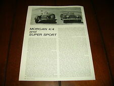 1963 MORGAN 4/4  -- SUPER SPORT ***ORIGINAL VINTAGE ARTICLE***