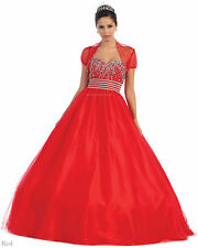 NEW QUINCEAÑERA MASQUERADE BALL ROOM GOWN PROM DRESS SWEET 16 PARTY & PLUS SIZE