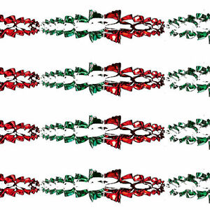 Christmas Ceiling Decorations - Foil - 2 Tone - Green / Red - Choose Design