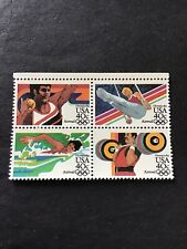 1984 USA Stamps. Airmail Olympic Unmounted Mint Block. Fine Condition.