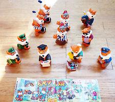 11 Stück - 8 verschiedene Figuren  Fancy Fuxies - Ü-Ei Figur von 1998