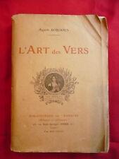 Auguste Dorchain, L'art des vers