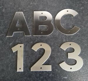 house/door numbers 2mm brushed stainless steel, Gate Postbox custom signwriting