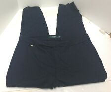 RALPH LAUREN Women's Straight Dress Pants Navy Size L