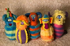 MELISSA & DOUG MONSTER BOWLING REPLACEMENT PINS PLUSH CREATURES LOT OF 5