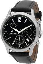 Maserati Tradizione Chronograph Black Dial Men's Leather Watch - R8871625002 NIB
