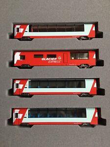 KATO 10-1146 - Glacier Express - 4pcs Extension Set - N Gauge